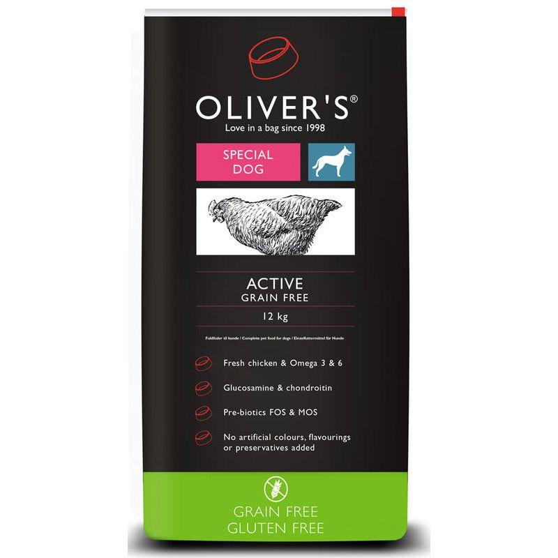 Oliver's dog Adult Active Grain Free 12 kg + DÁREK ZDARMA