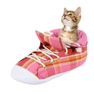 Zolux pelech pro kočky bota růžová kostky, 54 cm