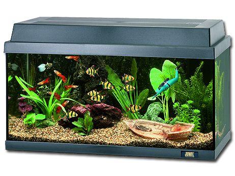 Juwel Rekord 600 akvárium set černý 61x41x42 cm, objem 63 l