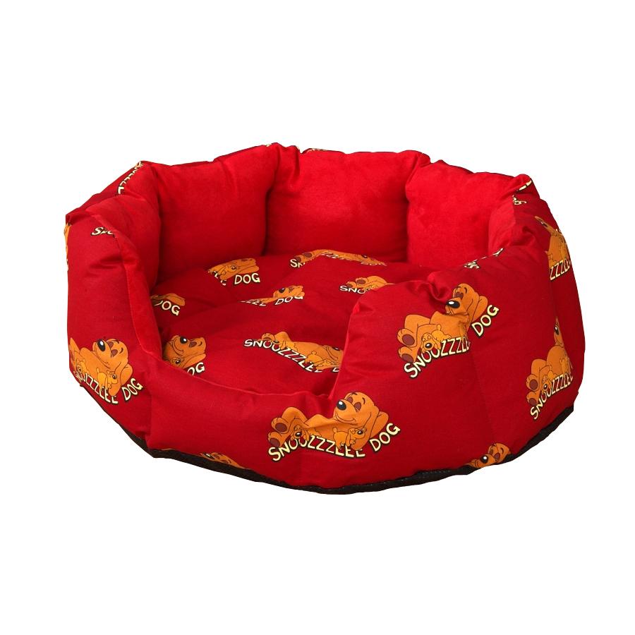 Snoozzzeee Relax bavlněný pelech ovál cherry, 58 cm