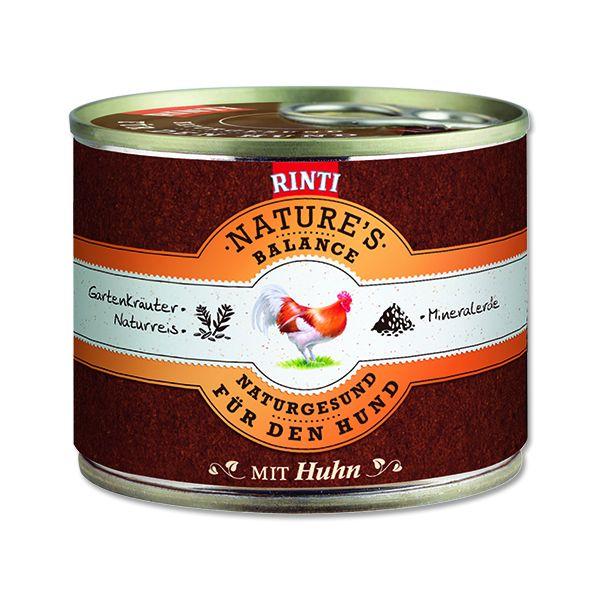 Rinti Nature's Balance Konzerva pro psy kuřecí & hnědá rýže & vejce 190 g
