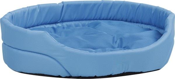 Pelech pro psa Argi oválný s polštářem - modrý - 40 x 30 x 12 cm
