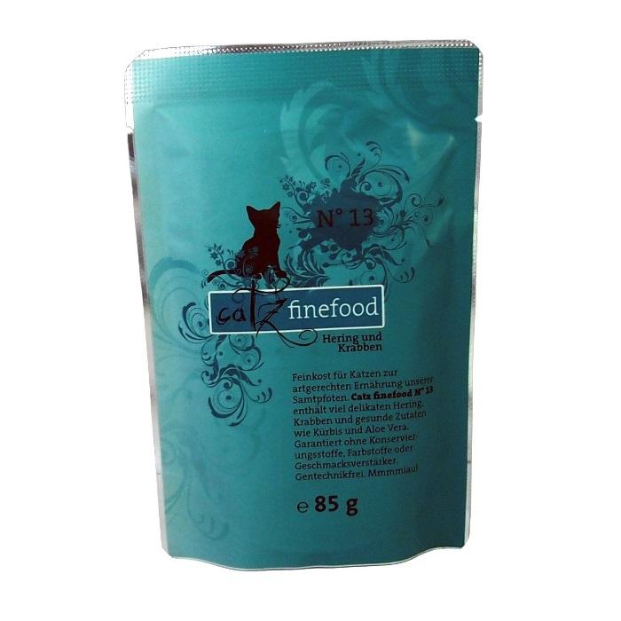 Catz Finefood No.13 - sleď & krevety pro kočky 85 g
