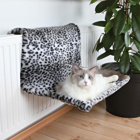 Trixie závěsné lůžko na topení plyšové sněžný leopard 58 x 30 x 38 cm
