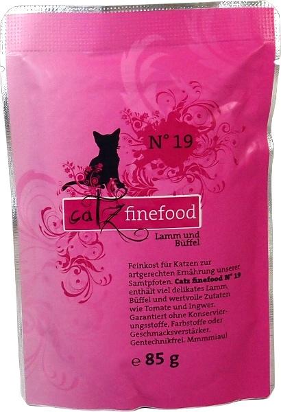 Catz Finefood No.19 Kapsička - jehněčí & buvolí pro kočky 85 g