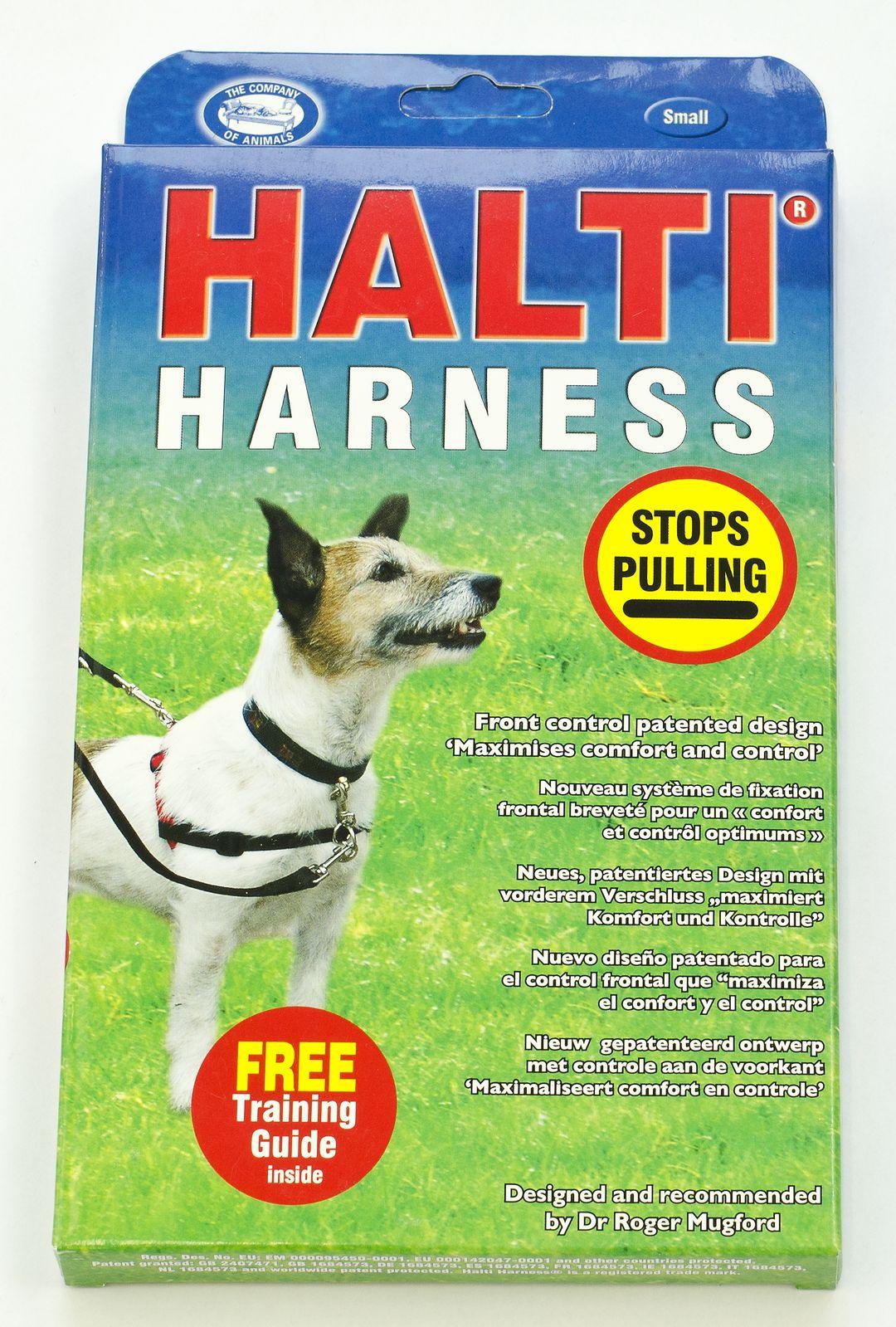 Halti Harness Nylonový postroj proti tahání pro psy, červeno-černý - M