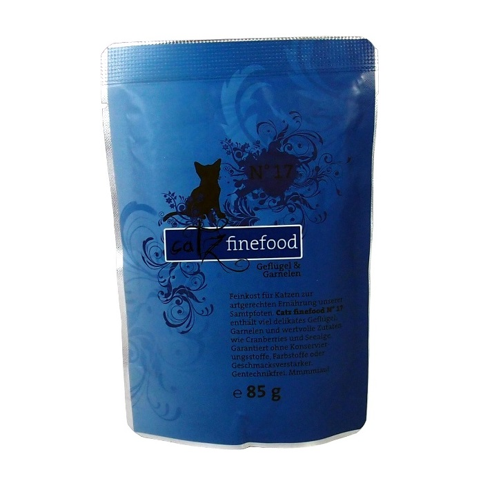 Catz Finefood No.17 - drůbež & garnáti pro kočky 85 g