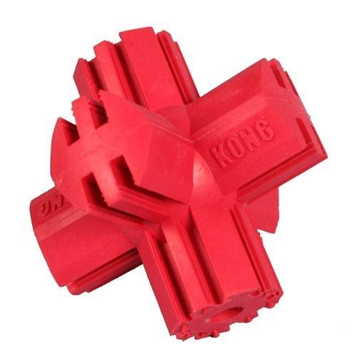 Kong Kříž gumová plnitelná interaktivní hračka pro psy červená - S