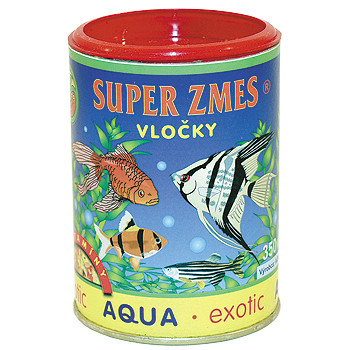 Aqua Exotic supersměs vločkové krmivo 350 ml