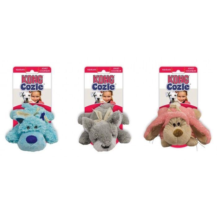 Kong Cozie Pastels Odolná plyšová hračka - M