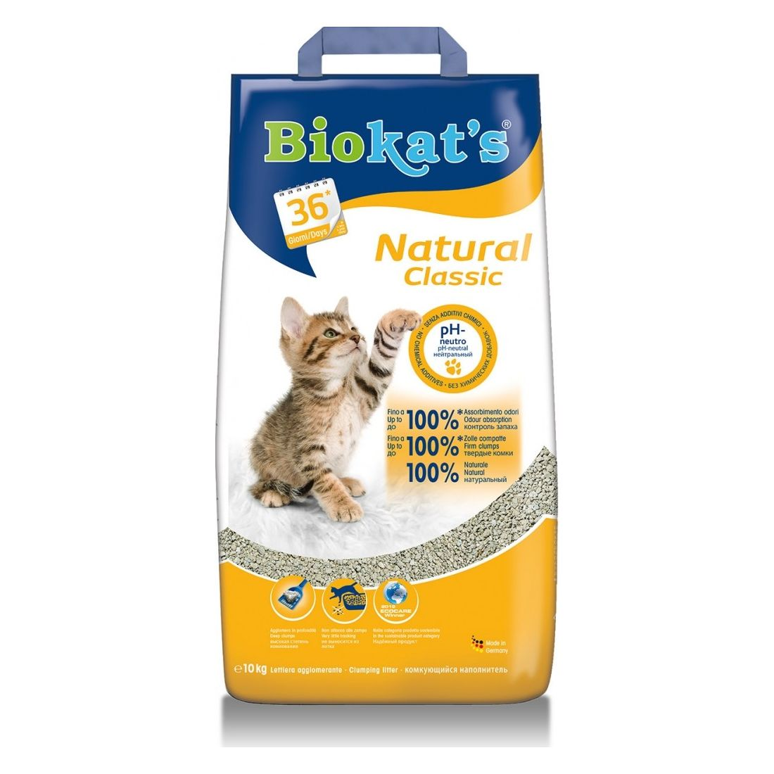 Gimpet Biokats Natural podestýlka pro kočky, 10 kg