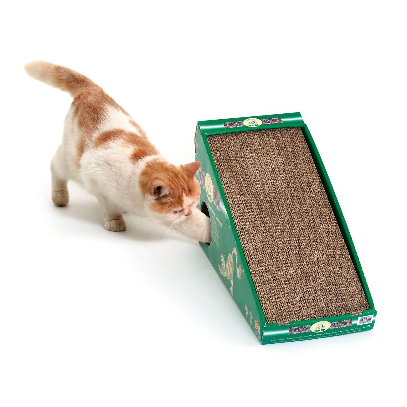 Karlie Škrábadlo s ukrytou myškou pro kočky, 50x21x32 cm