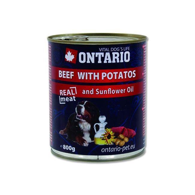 Ontario Beef, Potatoes, Sunfl. Oil - hovězí & brambory & slun. olej 800 g