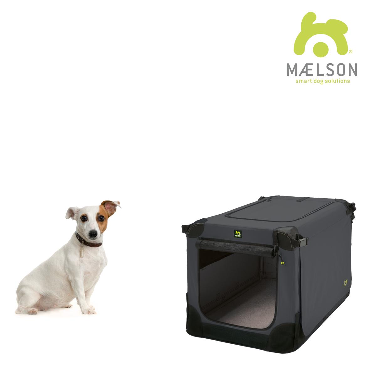 Přepravka pro psy Maelson - černo-antracitová - S, 62x41x41 cm