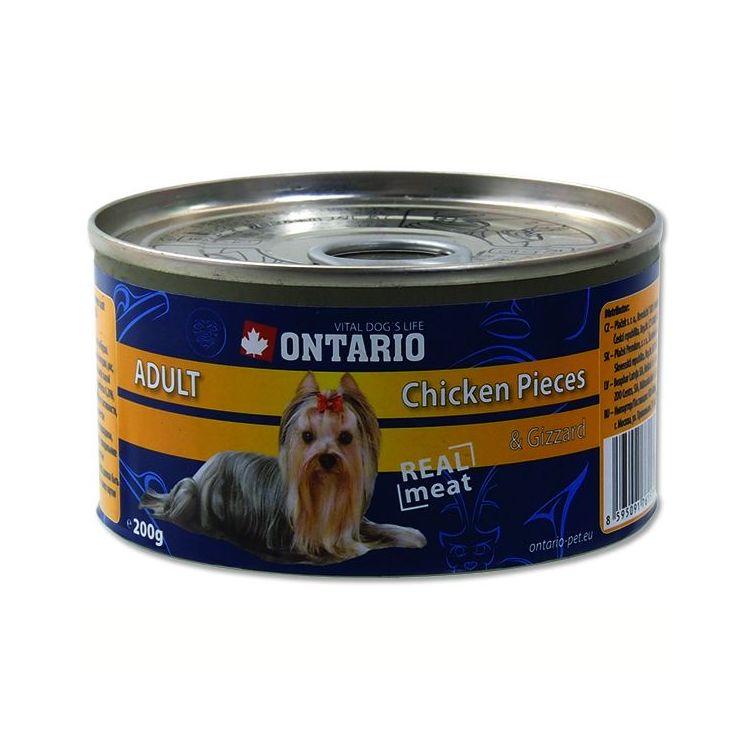 Ontario Chicken Pieces & Gizzard - kuřecí kousky & žaludky pro psy 200 g
