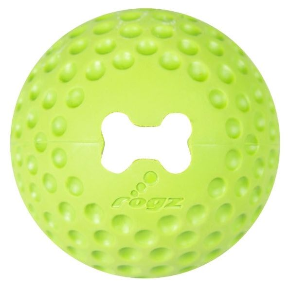 Rogz Gumz gumový míček pro psy plnicí limetkový - velikost L, průměr 7,8 cm