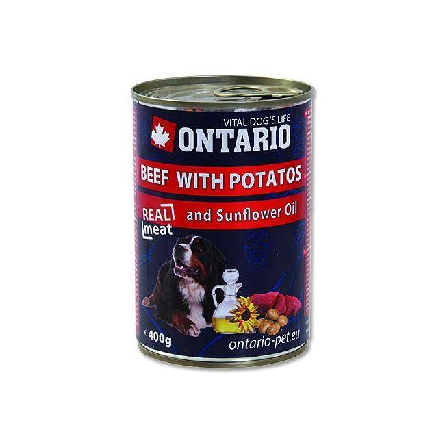 Ontario Beef, Potatoes, Sunfl. Oil - hovězí & brambory & slun. olej 400 g