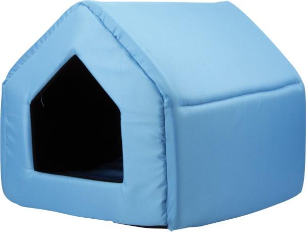 Bouda pro psy a kočky Argi - modrá - 38 x 38 x 38 cm