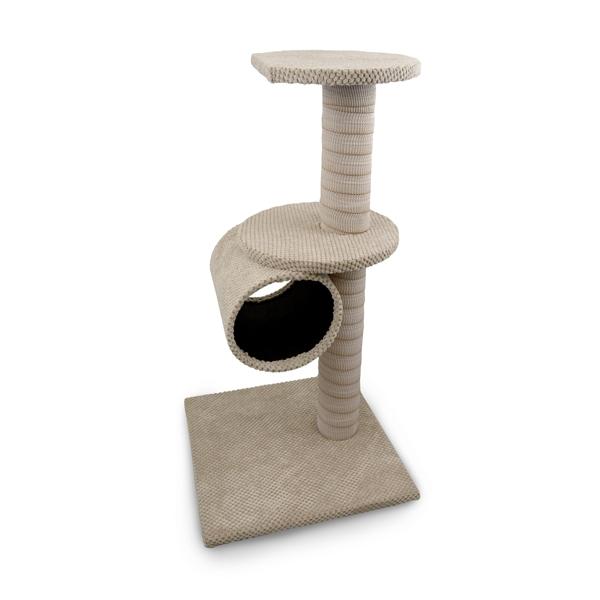 Škrabadlo pro kočky Argi - Megan - béžové - 80 x 40 x 40 cm