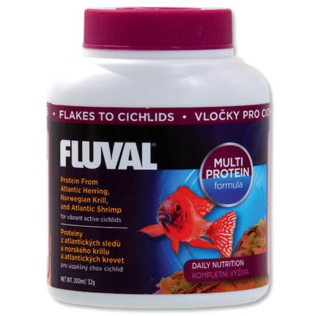 Hagen Fluval Cichlid Flakes vločkové krmivo pro cichlidy 200 ml