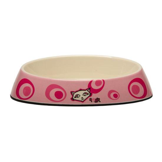 Rogz Bowlz Fishcake - Miska pro kočky keramická růžová, 200 ml