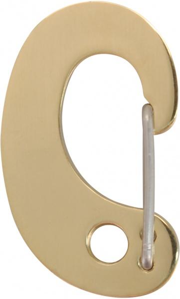 Red Dingo Karabina na známku zlatá, 32x20 mm