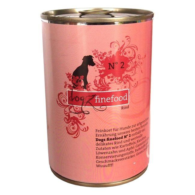 Dogz Finefood No.2 - hovězí pro psy 400 g