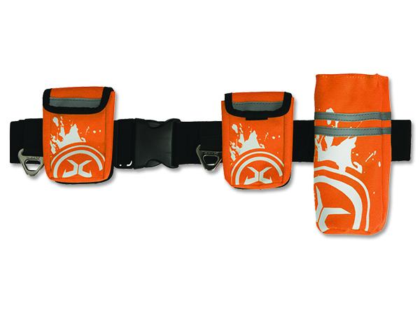 Zolux Nylonový pás reflexní pro jogging se 3 pouzdry pro psy oranžový - M