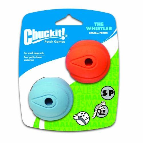 Chuckit! Whistler svištící aportovací míčky - S, 5 cm, 2 ks