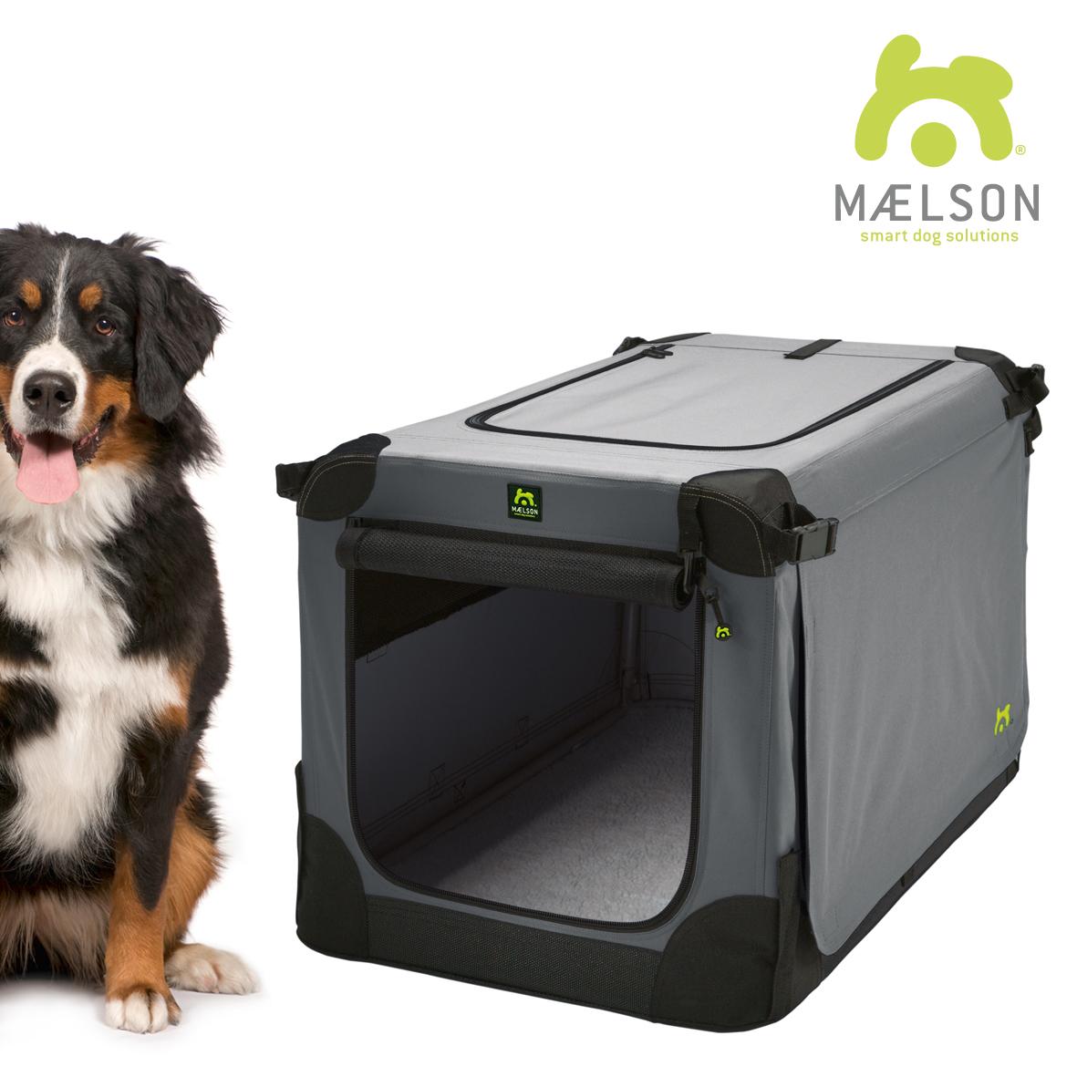 Přepravka pro psy Maelson - černo-šedá - XXXL, 120x77x86 cm