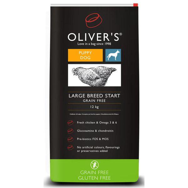 Oliver's dog Large Breed Start Grain Free 12 kg + DÁREK ZDARMA