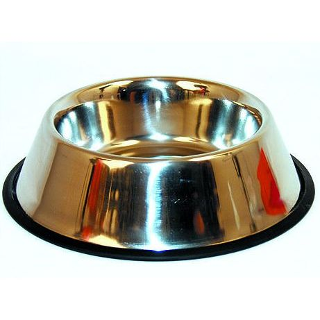 Miska DOG FANTASY nerezová s gumou 11 cm