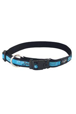 Obojek pro psa nylonový - Rogz Fancy Dress - modro-černý - 2 x 34 - 56 cm