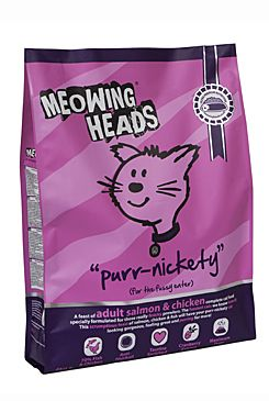 Meowing Heads Purr-Nickety - losos & kuřecí pro dospělé kočky 6 kg