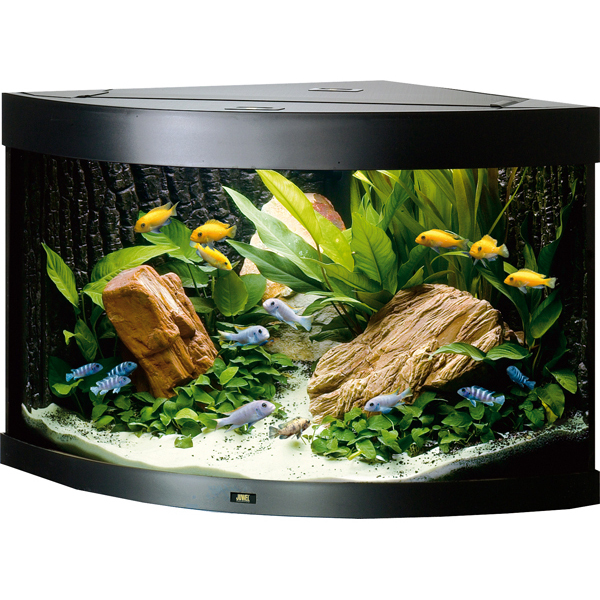 Juwel Trigon 190 akvárium set rohový černý 98x60x50 cm, objem 190 l