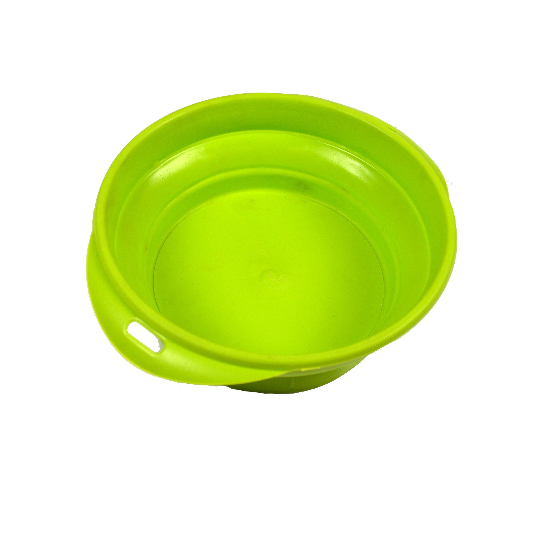 Silikonová cestovní miska Argi - zelená - 700 ml