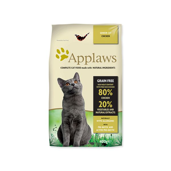 Krmivo APPLAWS Dry Cat Senior 400 g