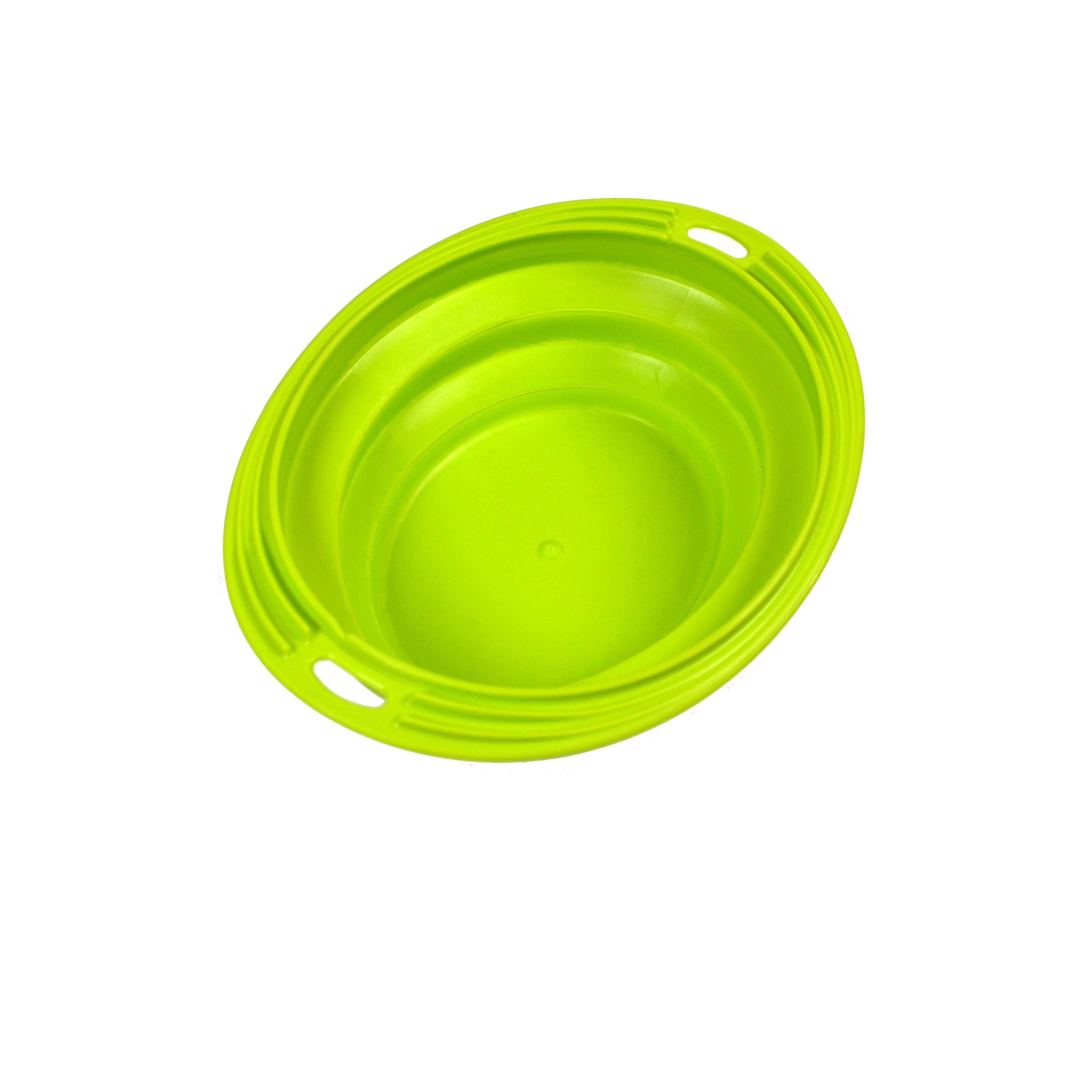 Silikonová cestovní miska oválná Argi - zelená - 1000 ml