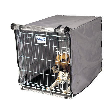Savic Dog Residence Nylonový přehoz na klec šedo-stříbrný - 107 cm