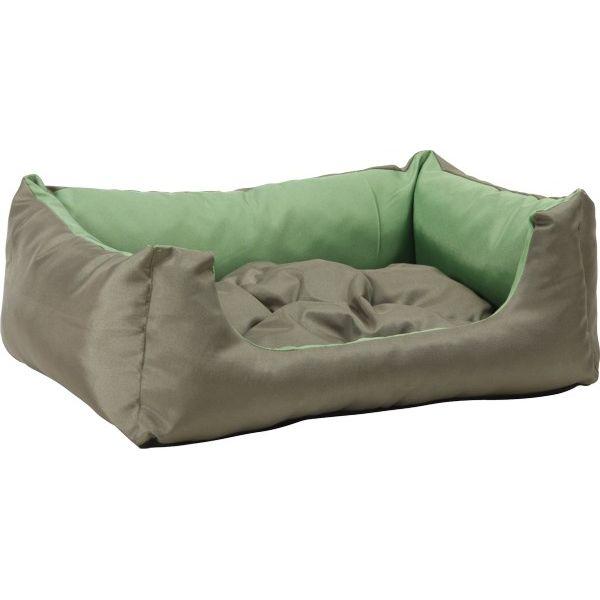 Pelech pro psa Argi obdélníkový s polštářem - zelený - 76 x 60 x 20 cm