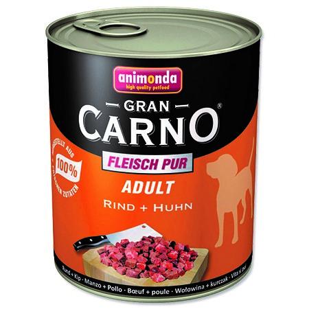 Animonda Gran Carno - hovězí & kuře pro psy 800 g