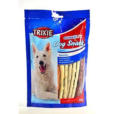Trixie Dentafun Dog Bits Kroucené tyčinky z buvolí kůže 260 g