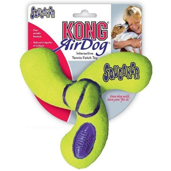 Kong Air Dog Tenis Triskelion Plovoucí pískací hračka pro psy - L