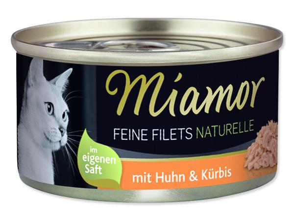 Miamor Feine Filets Naturelle - kuře & dýně ve šťávě pro kočky 80 g