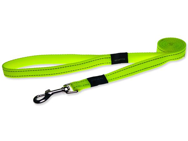 Vodítko pro psa nylonové - reflexní - Rogz Utility - žluté - 2,5 x 180 cm