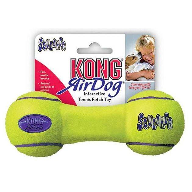 Kong Air Dog Tenis Činka pískací hračka pro psy vhodná pro aport - S