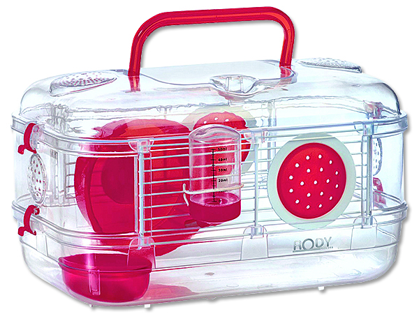 Zolux Rody Lounge Mini Klec pro hlodavce cherry, 33x21x18 cm