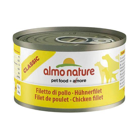 Almo Dog Nature pes konz. telecí+šunka