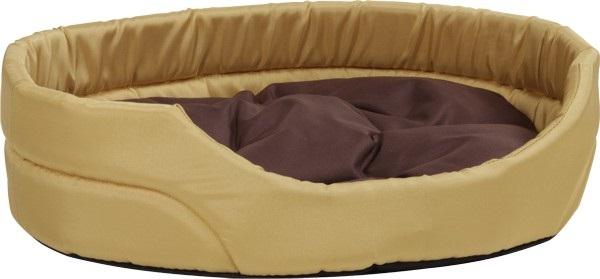 Pelech pro psa Argi oválný s polštářem - žlutý - 40 x 30 x 12 cm