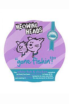 Meowing Heads Gone Fishing - maréna & kuřecí pro kočky 85 g